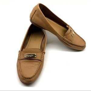 Coach Fredrica Tan Driving Loafers Flats Sz 7